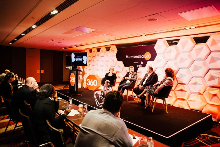 A panel at Mumbrella360